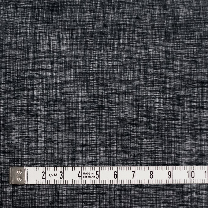 コットン×無地(ブラック)×ボイル_全9色_フランス製 イメージ4