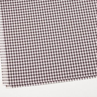 コットン&ポリウレタン×チェック(ブラウン)×サージストレッチ_全3色 サムネイル2