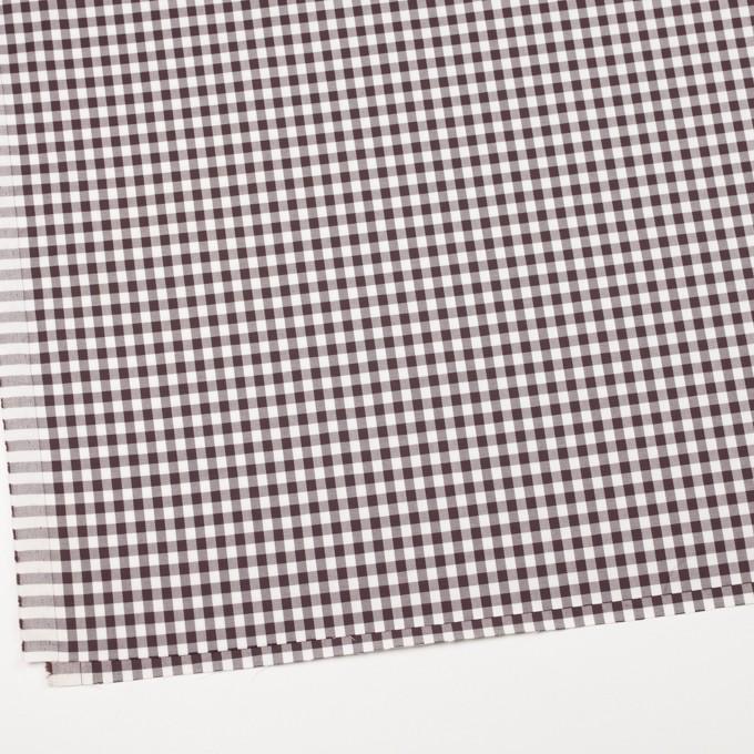 コットン&ポリウレタン×チェック(ブラウン)×サージストレッチ_全3色 イメージ2