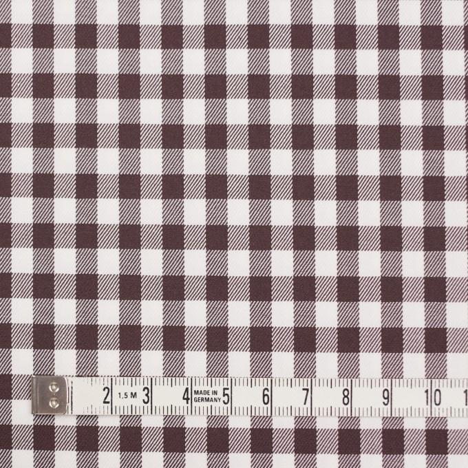 コットン&ポリウレタン×チェック(ブラウン)×サージストレッチ_全3色 イメージ4