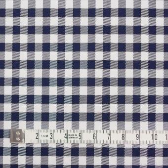 コットン&ポリウレタン×チェック(ネイビー)×サージストレッチ_全3色 サムネイル4