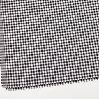 コットン&ポリウレタン×チェック(ブラック)×サージストレッチ_全3色 サムネイル2