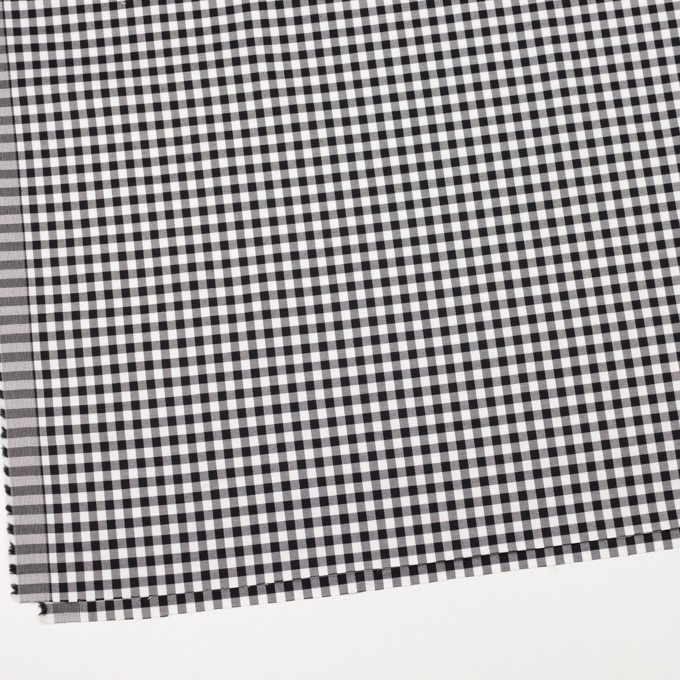 コットン&ポリウレタン×チェック(ブラック)×サージストレッチ_全3色 イメージ2