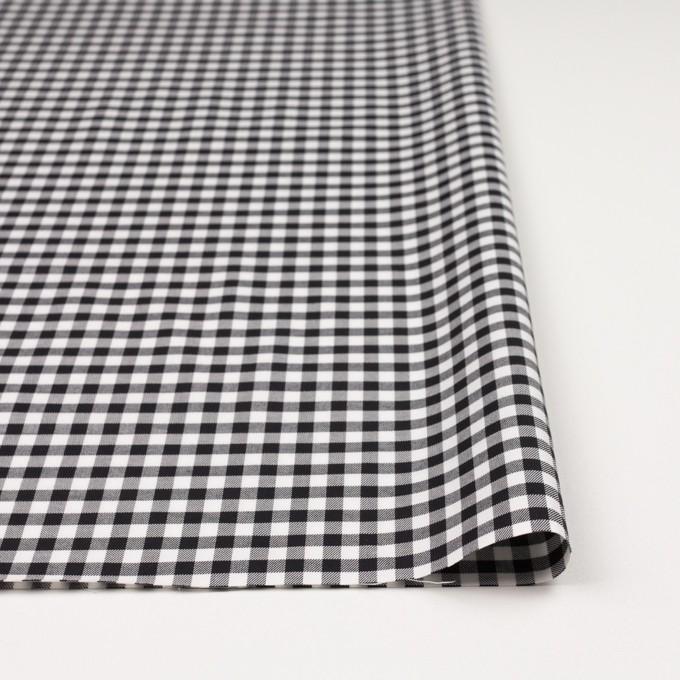 コットン&ポリウレタン×チェック(ブラック)×サージストレッチ_全3色 イメージ3