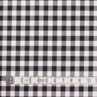 コットン&ポリウレタン×チェック(ブラック)×サージストレッチ_全3色 サムネイル4