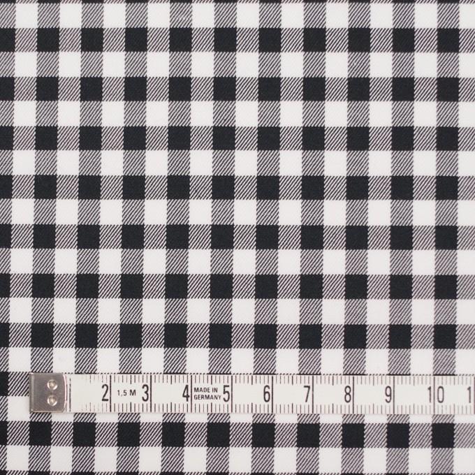 コットン&ポリウレタン×チェック(ブラック)×サージストレッチ_全3色 イメージ4