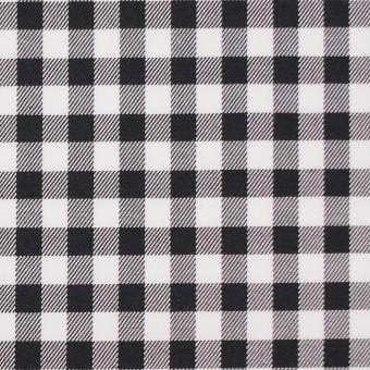 コットン&ポリウレタン×チェック(ブラック)×サージストレッチ_全3色 サムネイル1