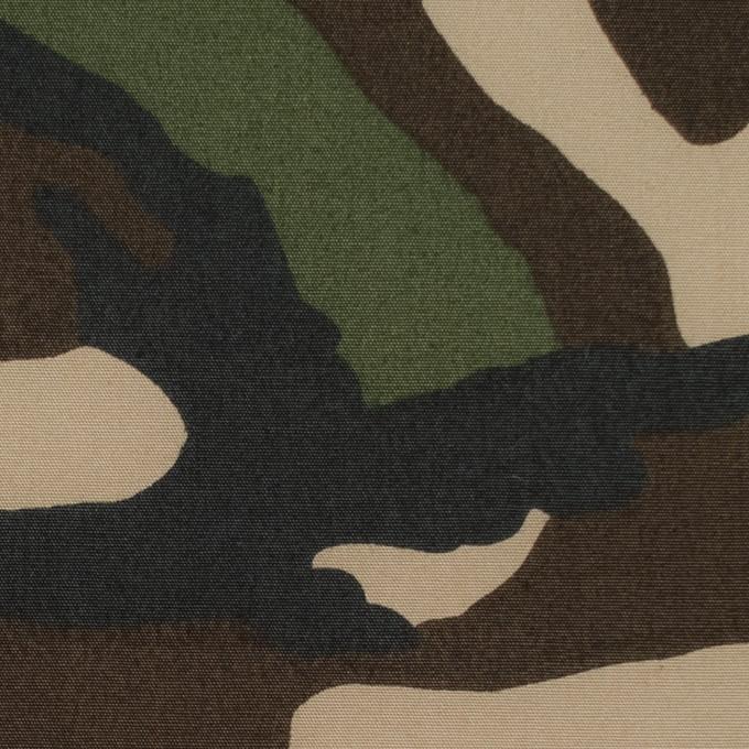 コットン×迷彩(カーキミックス)×高密ブロード イメージ1