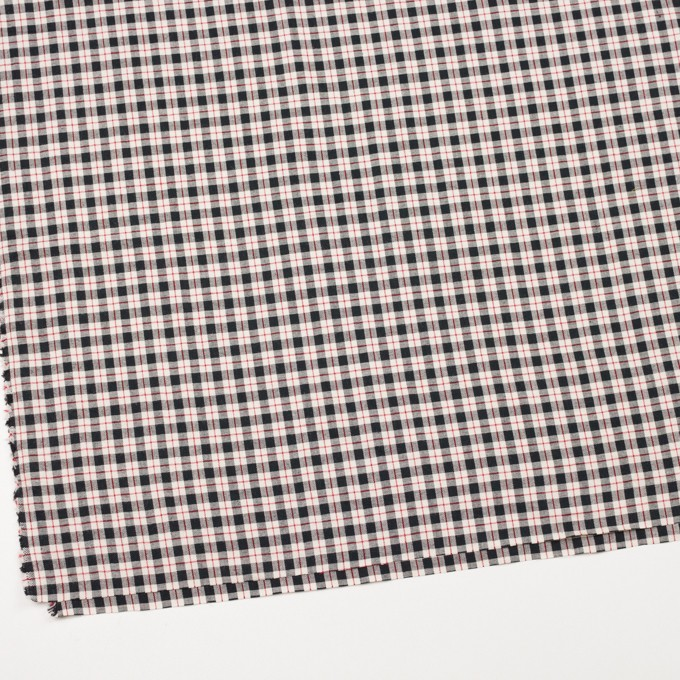 コットン&ウール×チェック(レッド&ブラック)×シーチング イメージ2