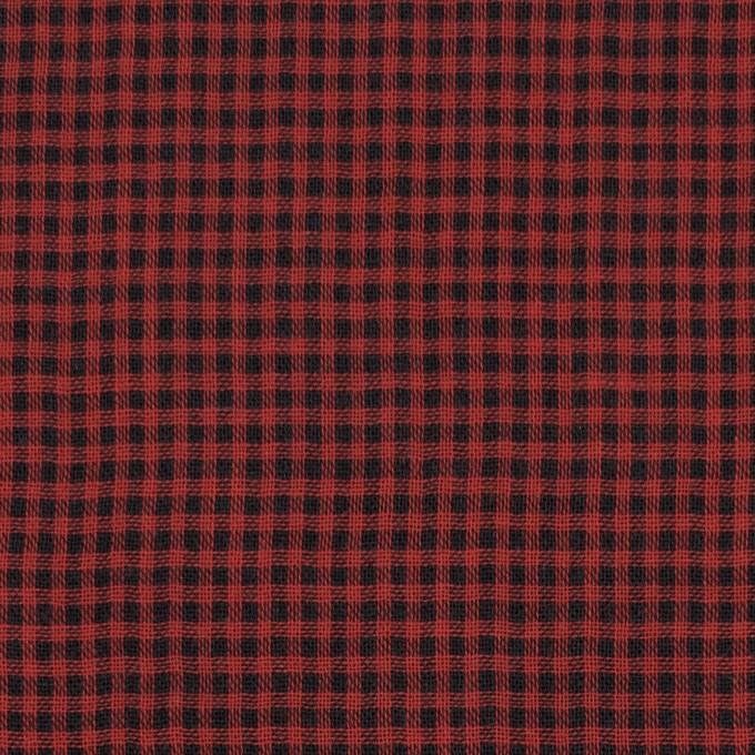 コットン×チェック(レッド&ブラック)×Wガーゼ_全3色 イメージ1