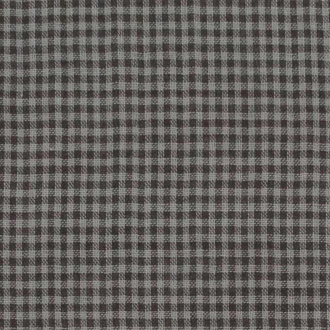 コットン×チェック(グレー&ダークブラウン)×Wガーゼ_全3色 イメージ1