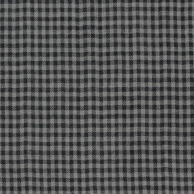 コットン×チェック(グレー&ブラック)×Wガーゼ_全3色 イメージ1