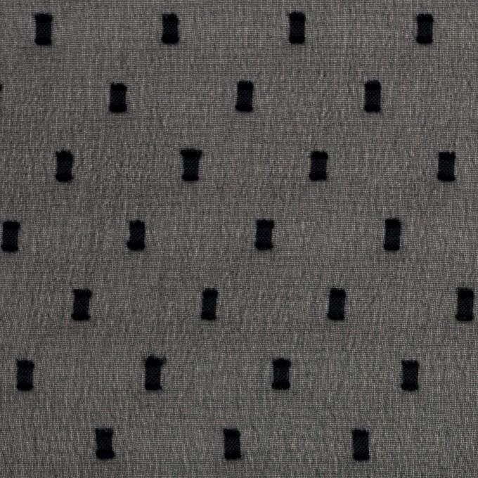 ポリエステル×スクエア(ブラック)×ジョーゼットジャガード イメージ1