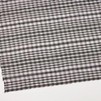 シルク&ナイロン混×チェック(パープルグレー&ブラック)×オーガンジー サムネイル2
