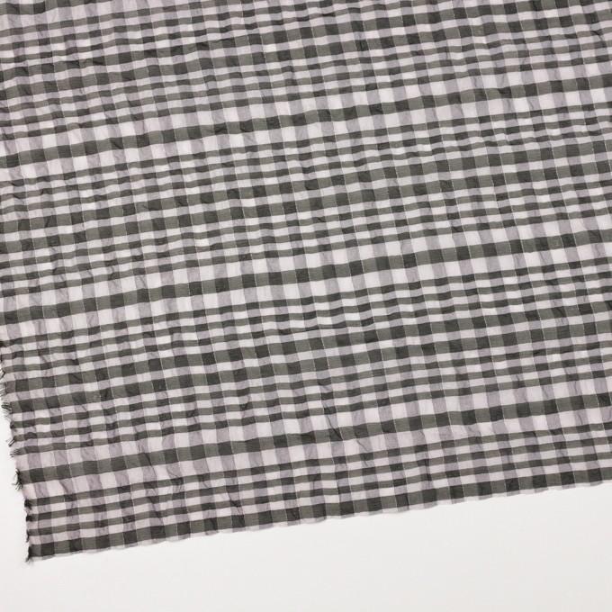 シルク&ナイロン混×チェック(パープルグレー&ブラック)×オーガンジー イメージ2