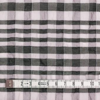 シルク&ナイロン混×チェック(パープルグレー&ブラック)×オーガンジー サムネイル4