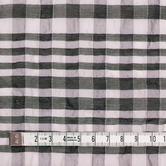 シルク&ナイロン混×チェック(パープルグレー&ブラック)×オーガンジー イメージ4