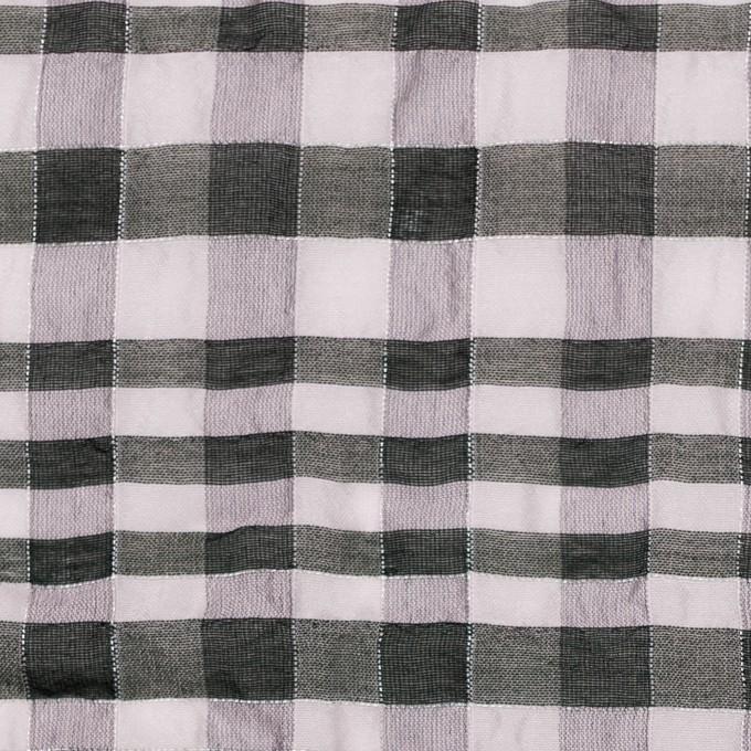 シルク&ナイロン混×チェック(パープルグレー&ブラック)×オーガンジー イメージ1