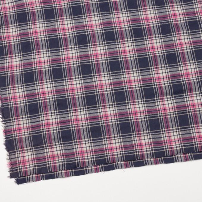 コットン&ポリウレタン×チェック(ピンク&バイオレット)×ヘリンボーン イメージ2