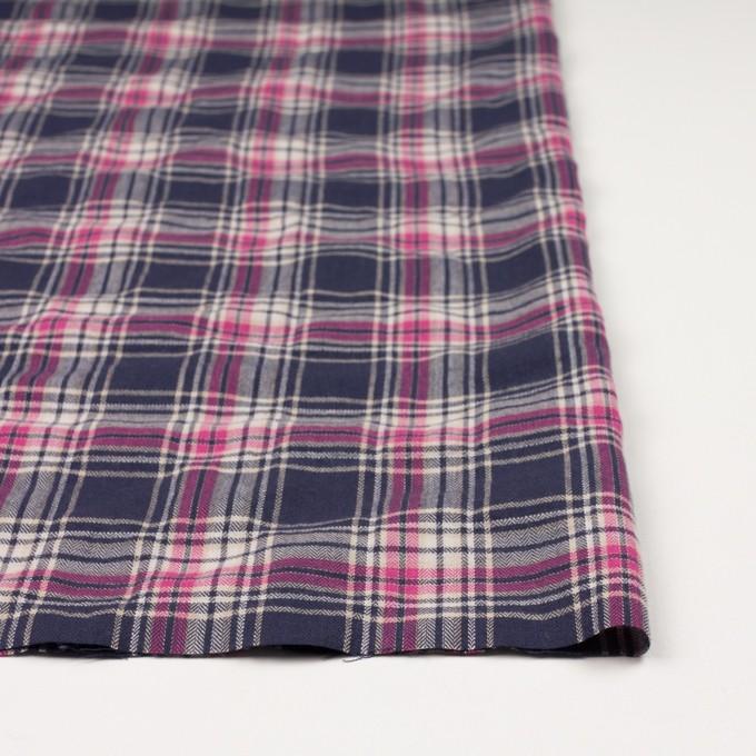 コットン&ポリウレタン×チェック(ピンク&バイオレット)×ヘリンボーン イメージ3