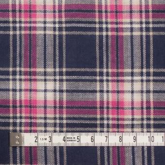 コットン&ポリウレタン×チェック(ピンク&バイオレット)×ヘリンボーン サムネイル4