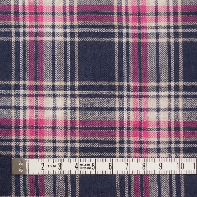 コットン&ポリウレタン×チェック(ピンク&バイオレット)×ヘリンボーン イメージ4