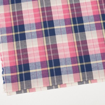 コットン&リネン×チェック(ピンク&グレープ)×薄サージ サムネイル2