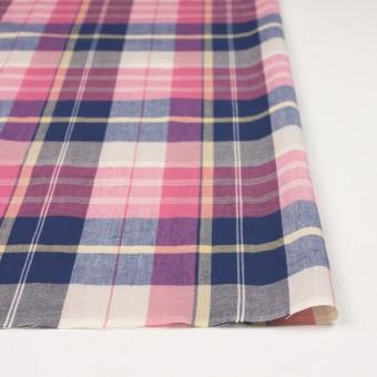 コットン&リネン×チェック(ピンク&グレープ)×薄サージ サムネイル3