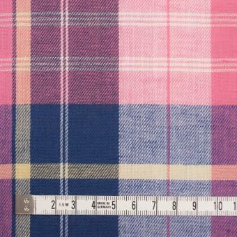 コットン&リネン×チェック(ピンク&グレープ)×薄サージ サムネイル4