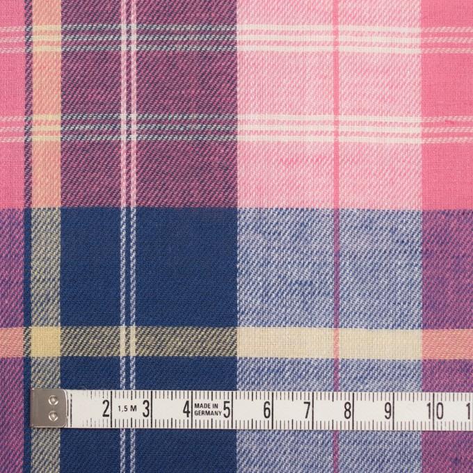 コットン&リネン×チェック(ピンク&グレープ)×薄サージ イメージ4