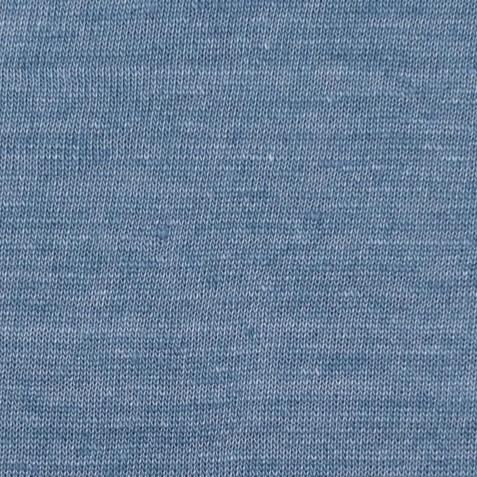 リネン×無地(ブルーグレー)×天竺ニット イメージ1