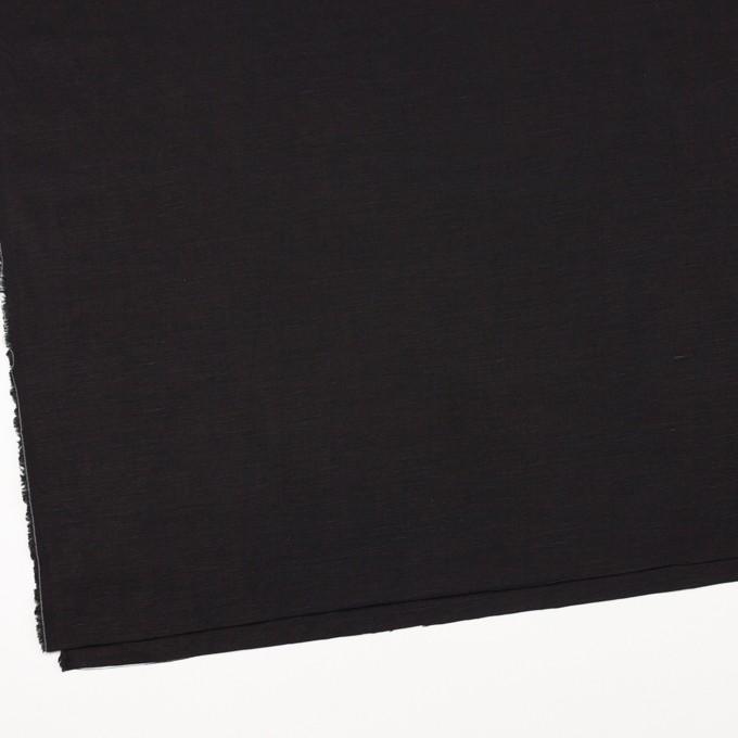 コットン&リネン混×無地(ブラック)×薄キャンバス イメージ2