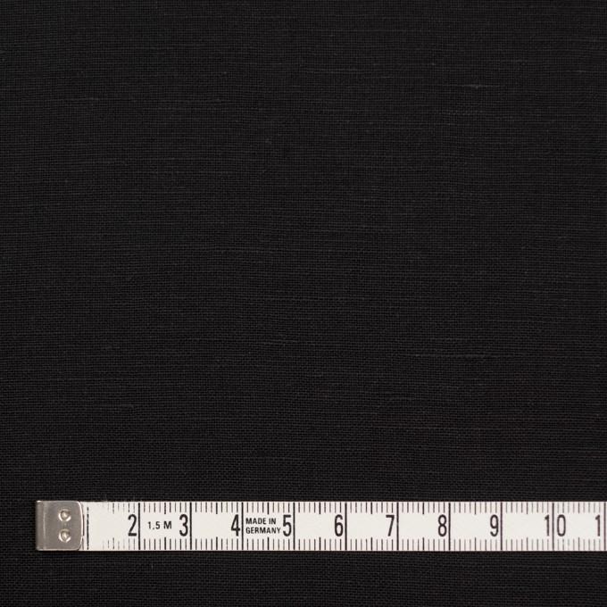 コットン&リネン混×無地(ブラック)×薄キャンバス イメージ4