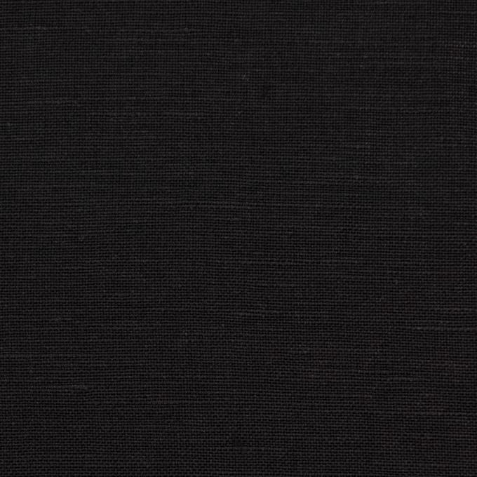 コットン&リネン混×無地(ブラック)×薄キャンバス イメージ1
