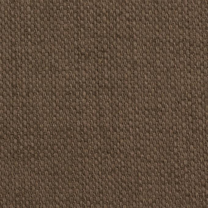 コットン×無地(ブラウン)×ホップサック(斜子織)_全2色 イメージ1