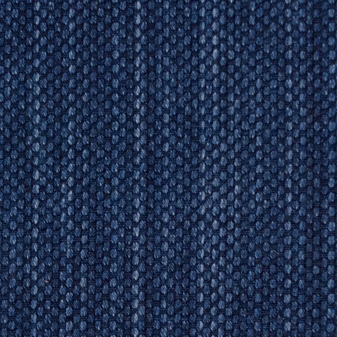 コットン×無地(インディゴブルー)×刺し子 イメージ1
