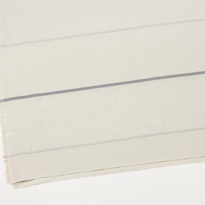 レーヨン&ポリエステル×ボーダー(アイボリー)×かわり織ジャガード_全2色 イメージ2