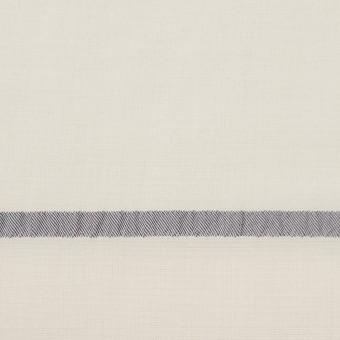 レーヨン&ポリエステル×ボーダー(アイボリー)×かわり織ジャガード_全2色 サムネイル1