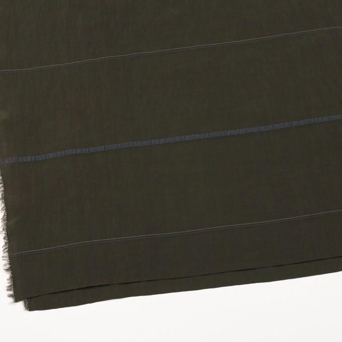 レーヨン&ポリエステル×ボーダー(オリーブグリーン)×かわり織ジャガード_全2色 イメージ2