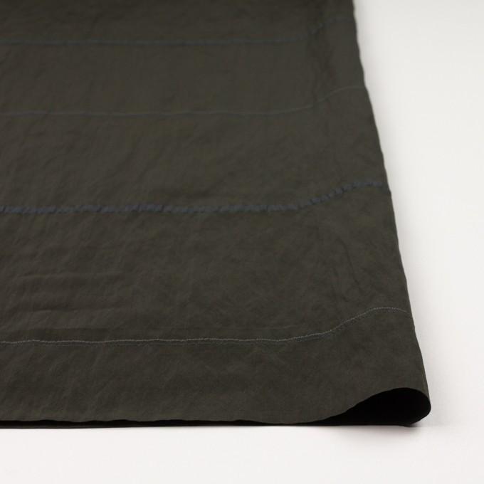 レーヨン&ポリエステル×ボーダー(オリーブグリーン)×かわり織ジャガード_全2色 イメージ3