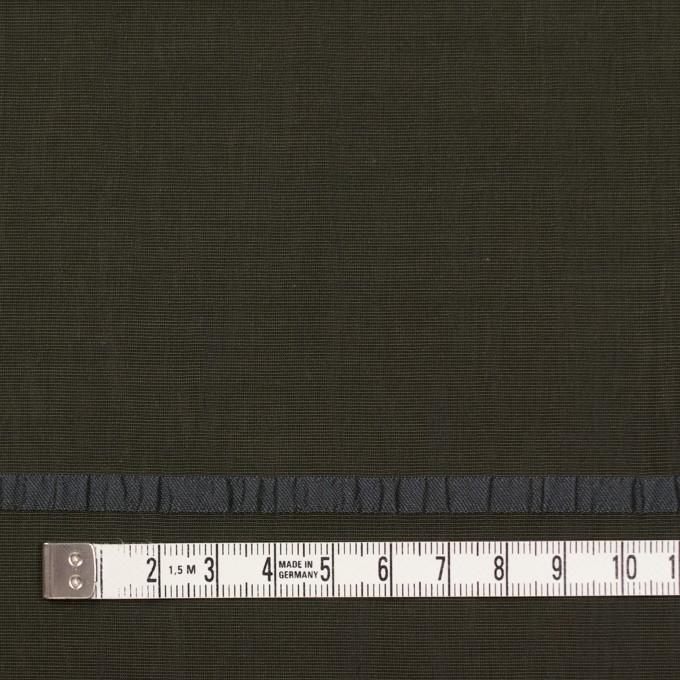 レーヨン&ポリエステル×ボーダー(オリーブグリーン)×かわり織ジャガード_全2色 イメージ4