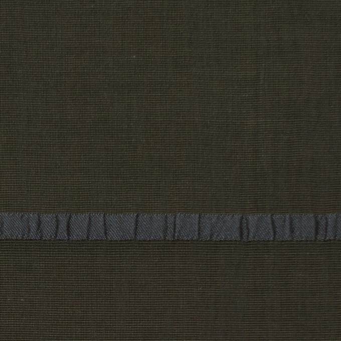 レーヨン&ポリエステル×ボーダー(オリーブグリーン)×かわり織ジャガード_全2色 イメージ1