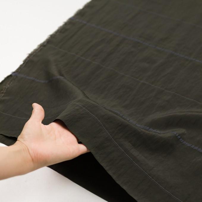 レーヨン&ポリエステル×ボーダー(オリーブグリーン)×かわり織ジャガード_全2色 イメージ5