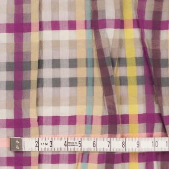 コットン&ナイロン混×チェック(マルチ)×ボイル&シャーリング_パネル サムネイル4