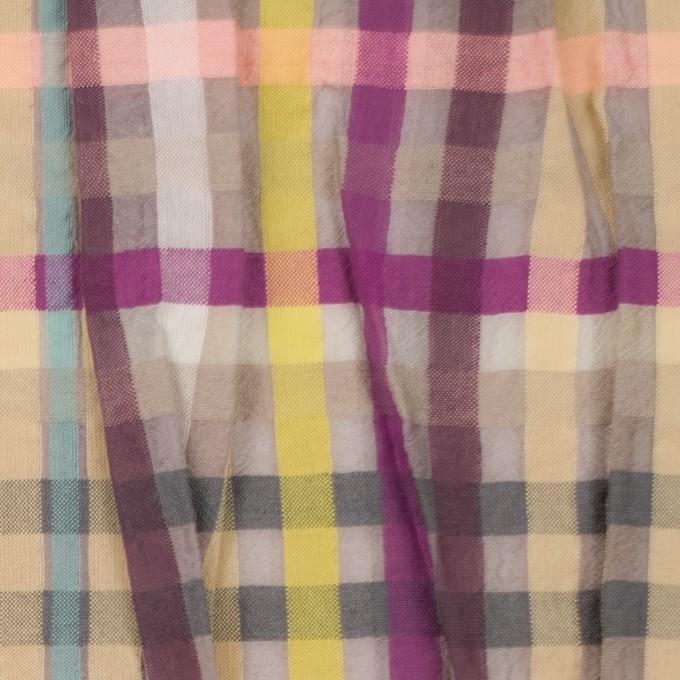 コットン&ナイロン混×チェック(マルチ)×ボイル&シャーリング_パネル イメージ1