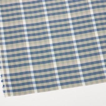 レーヨン×チェック(セージグリーン&シャドウブルー)×ローン サムネイル2