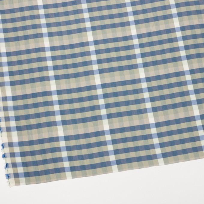 レーヨン×チェック(セージグリーン&シャドウブルー)×ローン イメージ2