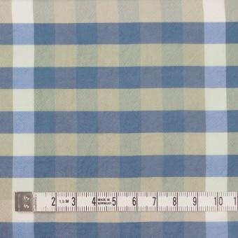 レーヨン×チェック(セージグリーン&シャドウブルー)×ローン サムネイル4