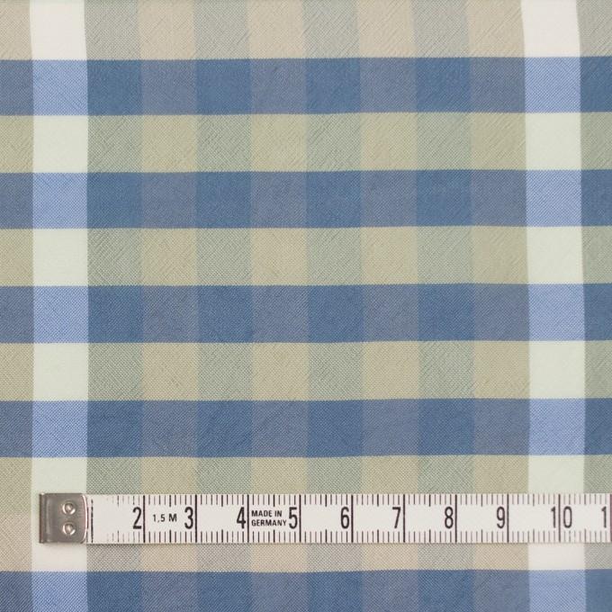 レーヨン×チェック(セージグリーン&シャドウブルー)×ローン イメージ4