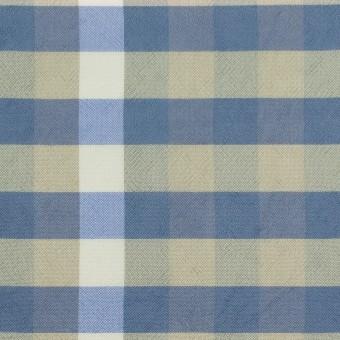 レーヨン×チェック(セージグリーン&シャドウブルー)×ローン